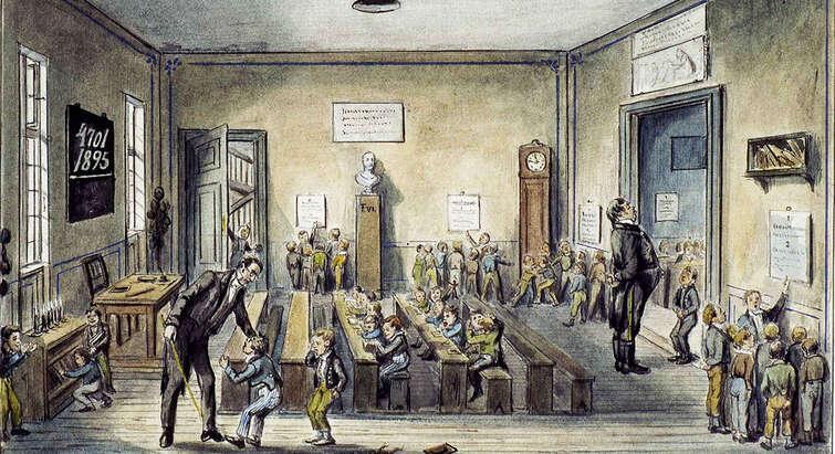 Skoleliv omkring 1850